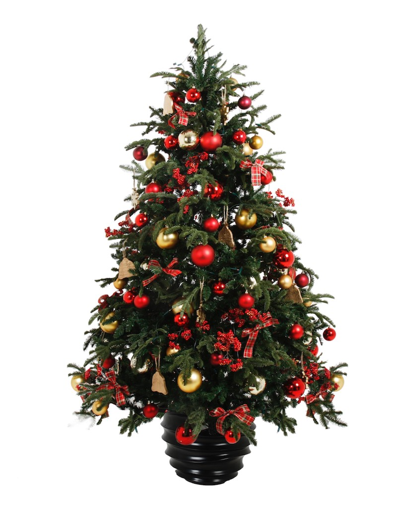 Weihnachtsbaum mit Weihnachtskugeln im Kübel Weihnachtsdekoration für Weihnachtsfeier Betriebsfeier Eyecatcher Bas de Boer Eventstyling www.basdeboer eventstyling.de  - Weihnachtsdeko und Weihnachtsbäume