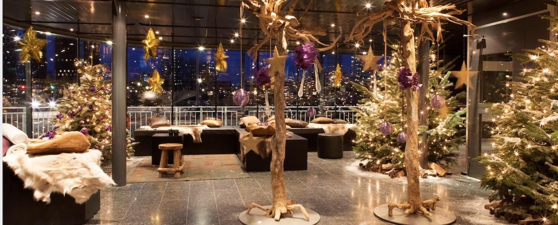 Weihnachtsdeko, geschmückte Weihnachtsbäume, Weihnachtssterne für Weihnachstfeiern, Geschäfte, Büros und Ladenlokale von BasdeBoer-Eventstyling